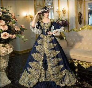 Women Vintage Renaissance Dress Marie Antoinette Rococo Baroque Noble Costume