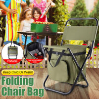 Multifunction Insulated Lunch Bag Folding Chair Seat for Outdoor Camping Hiking