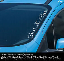 YEAH THE BOYS Reflective Funny Car Windscreen Sticker 55cm Decal Best Gift-