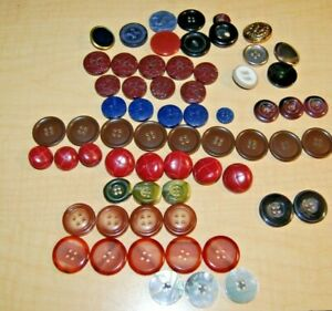 Lot of 60+ Vintage Buttons Different Colors