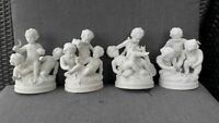 Set German unterweissbach marked bisque porcelain figurine statue 4season cherub