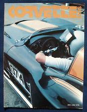 Prospekt brochure Corvette News December / January 1978 (USA)