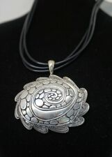 Western motif Silver-tone metal Spiral / Cobblestone Pendant earring AC23B-18/22