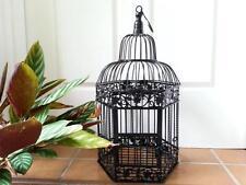Iron Handmade Ornamental Bird Cage Wedding Wishing Well Small Size BLACK HYL016S