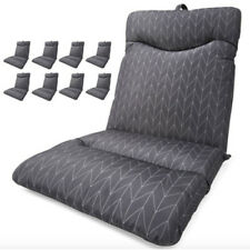 Set of 8 Grey Highback Cushion Outdoor Seat Lounge Patio Chair UV Resistant AUS