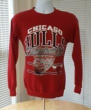 Vintage 1990 Chicago Bulls NBA Red Crewneck Sweatshirt Medium