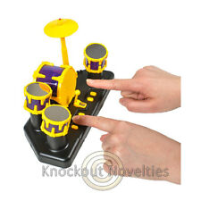 B/O Finger Drum Set Drums Drumming Toy Play Music Desk Office Accessory Fun