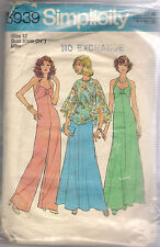 Simplicity Sewing Pattern 6939, Disco Dress Jumpsuit Poncho, Size 12