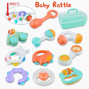 10stk Baby Spielzeug Motorik Rasseln Greiflinge Rassel Babyrassel Bell für 3-12M