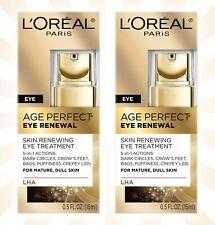 2 L'Oréal Age Perfect Eye Renewal Eye Cream 0.5 OZ