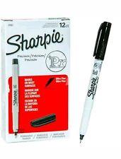 Sharpie Twin Tip Marker Ultra Fine Point 12 Black SHARPIE PERMANENT