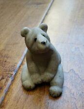 Quarry Critter Bear Figurine Bam Bam Second Nature Design Cute Eco Stone