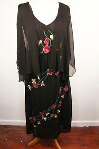 Chiffon Dress Marks & Spencer Embroidery Size 12