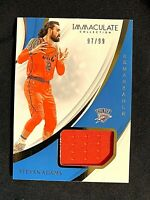 Steven Adams 97/99 2018-19 Immaculate Basketball Remarkable Patch OK Thunder