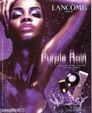 PUBLICITE ADVERTISING 026  2002  Lancome  maquillage vernis ongles Purple rain
