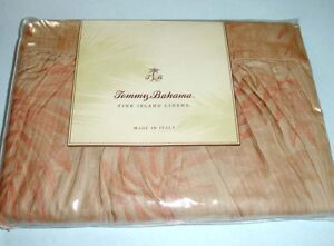 Tommy Bahama Island Etching Twin Bed Skirt 3 Panel Egyptian Cotton Weave New