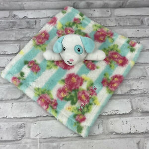 """Betsey Johnson Baby Blanket & Puppy Dog Security Blanket Lovey 13"""" X 12"""" Floral"""