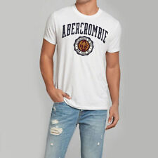 Abercrombie & Fitch Men's T-Shirt Tee White Graphic Top Shirt Sz XXL NWT