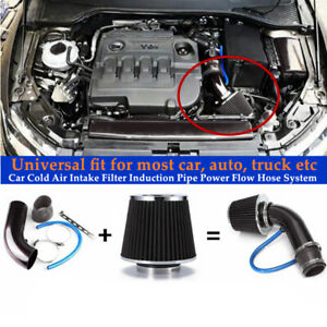 Car Accessories Cold Air Intake Filter Induction Pipe Power Flow Hose System Set