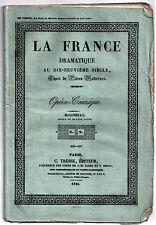 Pièce de théâtre. Opéra-Comique. Masaniello. 1843. Moreau, Lafortelle, Carafa