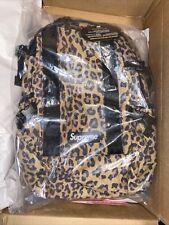 supreme leopard backpack