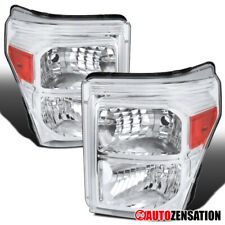 For 2011-2016 Ford F250 F350 F450 F550 Super Duty Clear Headlights Lamps Pair