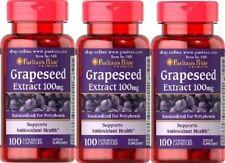 3 Semi d'uva 100 mgr 100 caps. Resveratrolo, Grapeseed