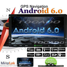 """Android 6.0 4G WIFI GPS Navigation 7"""" Double 2DIN Car Radio Stereo DVD Player BT"""