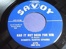 Roberta Martin Singers: Had It Not Been For Him / I Couldn't 45 - Black Gospel