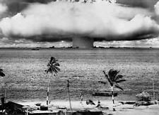 Atomic Bomb Mushroom Cloud Black & White Art Print Poster 36x24 (91.5x61cm)