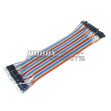 Arduino Macho A Hembra Soldadura Dupont Jumper Protoboard Cables 40-cable Pack