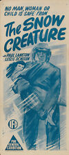 The Snow Creature (1954) Cult Horror movie poster print 2