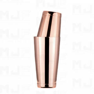 MJFLAIR solid weighted cocktail boston shaker- Rose gold