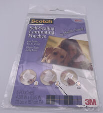Scotch Self Sealing Laminating Pouches 4 38 X 6 38 Glossy 5 Pouches