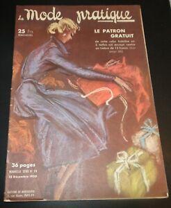 Magazine La MODE PRATIQUE  15 décembre  1950  n°24