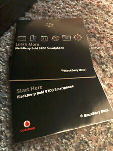 Blackberry Bold 9700 Instruction User Manuals Insert
