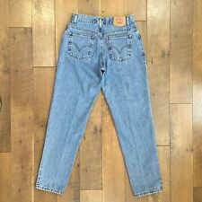 Vintage LEVIS Womens Classic Relaxed 550 Jeans Red Tab 100% Cotton Size 8 M