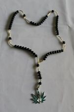 #18 ROSARIO NEGRO JESUS MALVERDE rosary protector ángel de los pobres religion