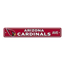 "New Arizona Cardinals AVE Street Sign 24"" x 4"" Styrene Plastic Made in USA"