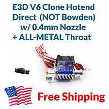 E3D V6 Direct J-head Hotend Kit 1.75 mm 0.4, 24V + ALL METAL Throat Heatbreak