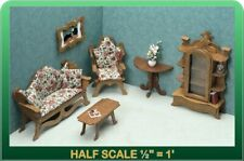 Living Room Dollhouse Furniture Kit - 1/24 Scale by Greenleaf Dollhouses