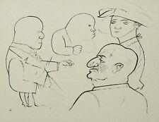 GEORGE GROSZ - HAIFISCHE (ECCE HOMO) - Fotolithografie 1923