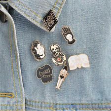 Brooch Badge T-shirt Collar Pins Jewelry Hs 1 Set Lovely 00006000  Hard Enamel Punk Skull