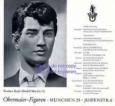 Schaufensterpuppe Obermaier München Reklame 1962 Modell Max Mannequin Werbung +