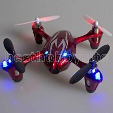 Hubsan X4 H107C 4CH Video Camera Quadcopter 2.4G 107C Drone RTF Silver Red Mode2