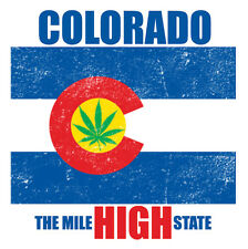 COLORADO THE HIGH STATE FLAG  METAL FRIDGE MAGNET #0018