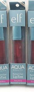 Elf Aqua Beauty Molten Radiant Gel Lip Tint#DEWY BERRY((1))