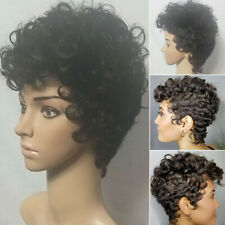 Womens Short Kinky Curly Wave Full Wigs Afro African Natural Wig Daily Cos Props