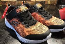 Skechers Boys Size 1 - Go Run 600 - Baxtux Sneaker, Black/orange