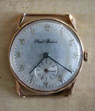 Vintage Art Deco Paul Buhre Gold 18K Men's Wristwatch